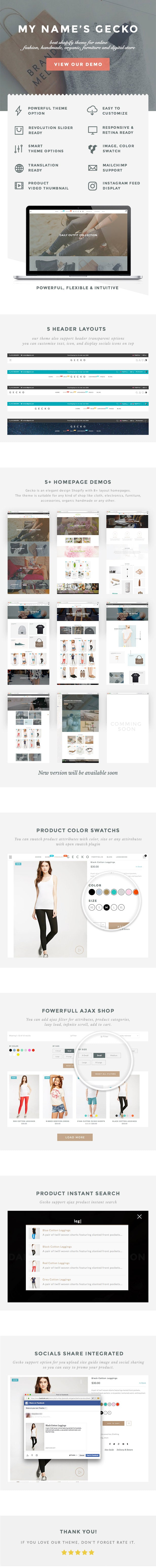 Gecko - Powerful Fashion, Organic Shopify Theme