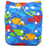 Washable Diapers Couches Lavables  Baby Diaper Cover Wrap Cartoon Print Baby Reusable by EzDeals