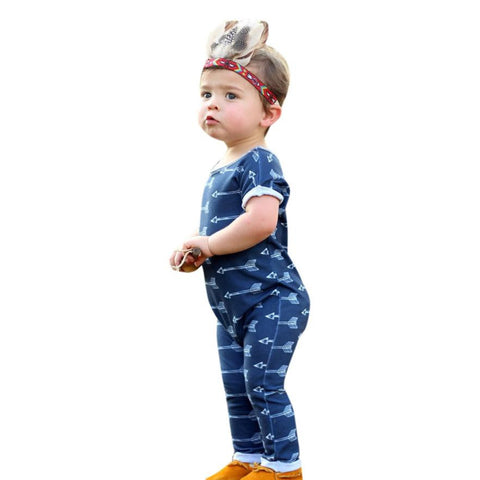 0-24M Kids baby boys clothes Toddler Newborn Baby Boys Girls Arrow Print Romper by EzDeals