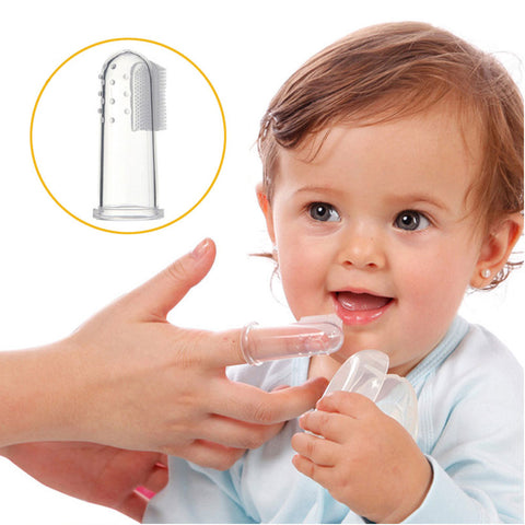Baby Kids Silicone Finger Toothbrush Children Teeth Clear Gum Brush Infant by EzDeals