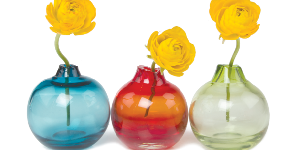 Unique Glass Flower Vases Contemporary Decorative Glass Vases