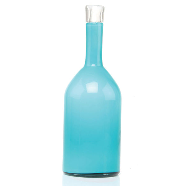 Chive Bottle Turquoise Modern Glass Flower Vase