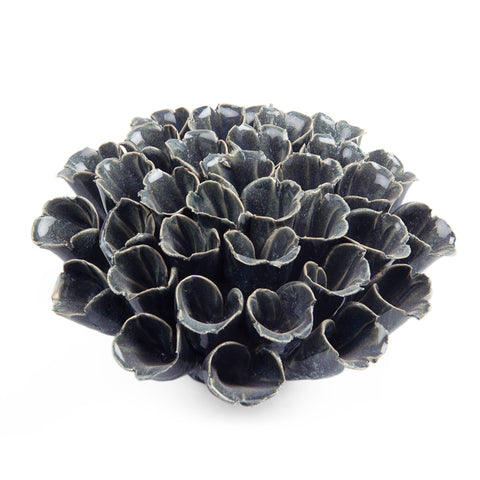 Coral 6 - Chive | Ceramic Decorative, Sea Polyp Blue Grey, Key hole, Wall Hanging, Centrepiece, Tablescape, Art Pieces.