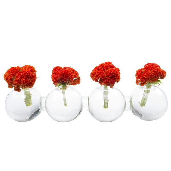 Chive George Shape 1 Unique Clear Glass Flower Vase Small And