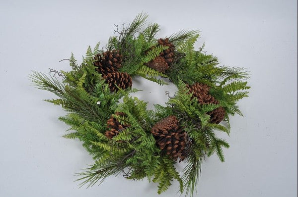 Fir Wreath | Couronne de Sapin 50cm Green