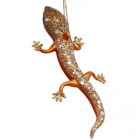 Lizard glass ornament | Ornement en verre Lézard 18cm Gold
