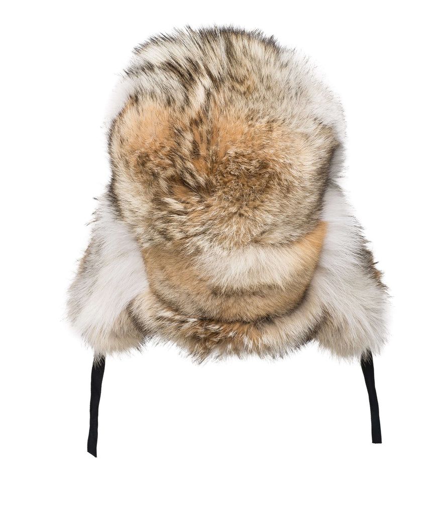 Full Coyote Aviator Hat | Winter accessories | Arctic Bay - Made in Canada