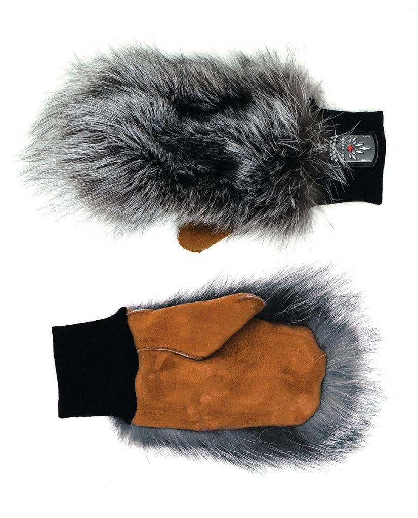 Fox Fur Mitts | Winter accessories | Arctic Bay - Made in Canada