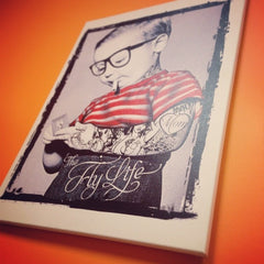 Fly Life Mounted Canvas