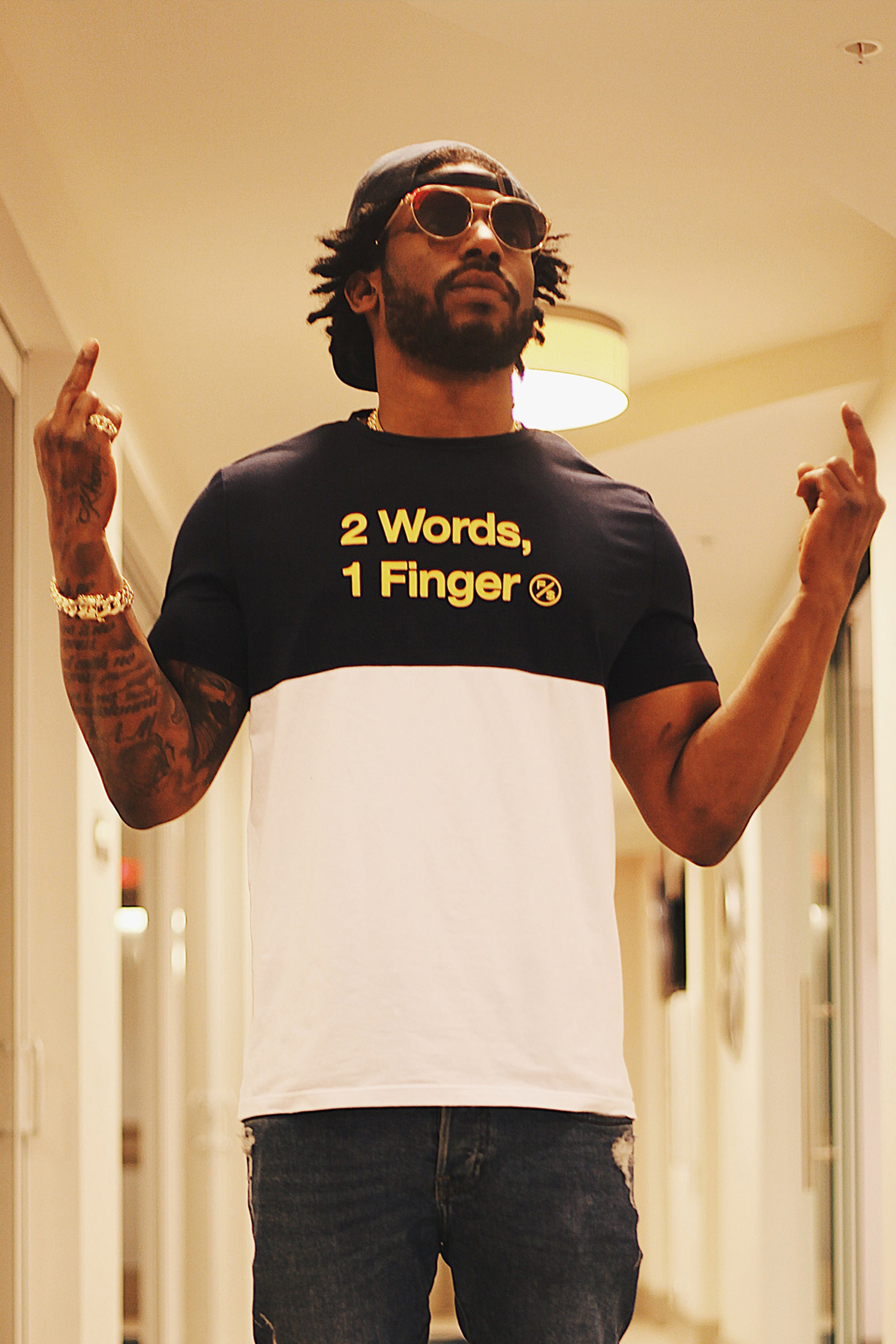 2 Words Contrast Tee
