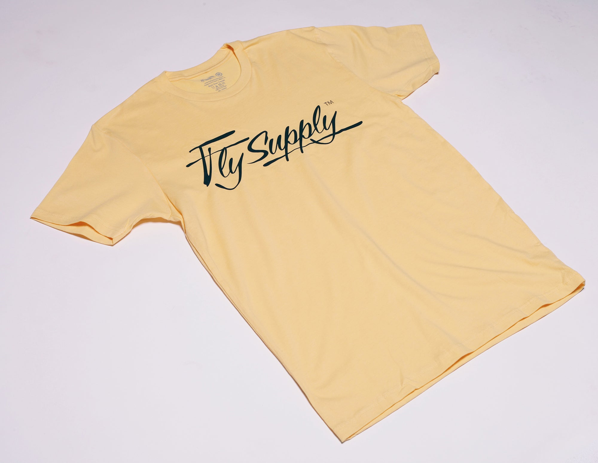 Fly Supply Logo: Yellow/Navy