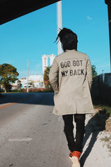 God Got My Back Trenchcoat