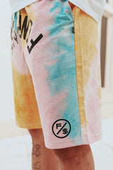 Finesse Tie-Dye Shorts (Pink)