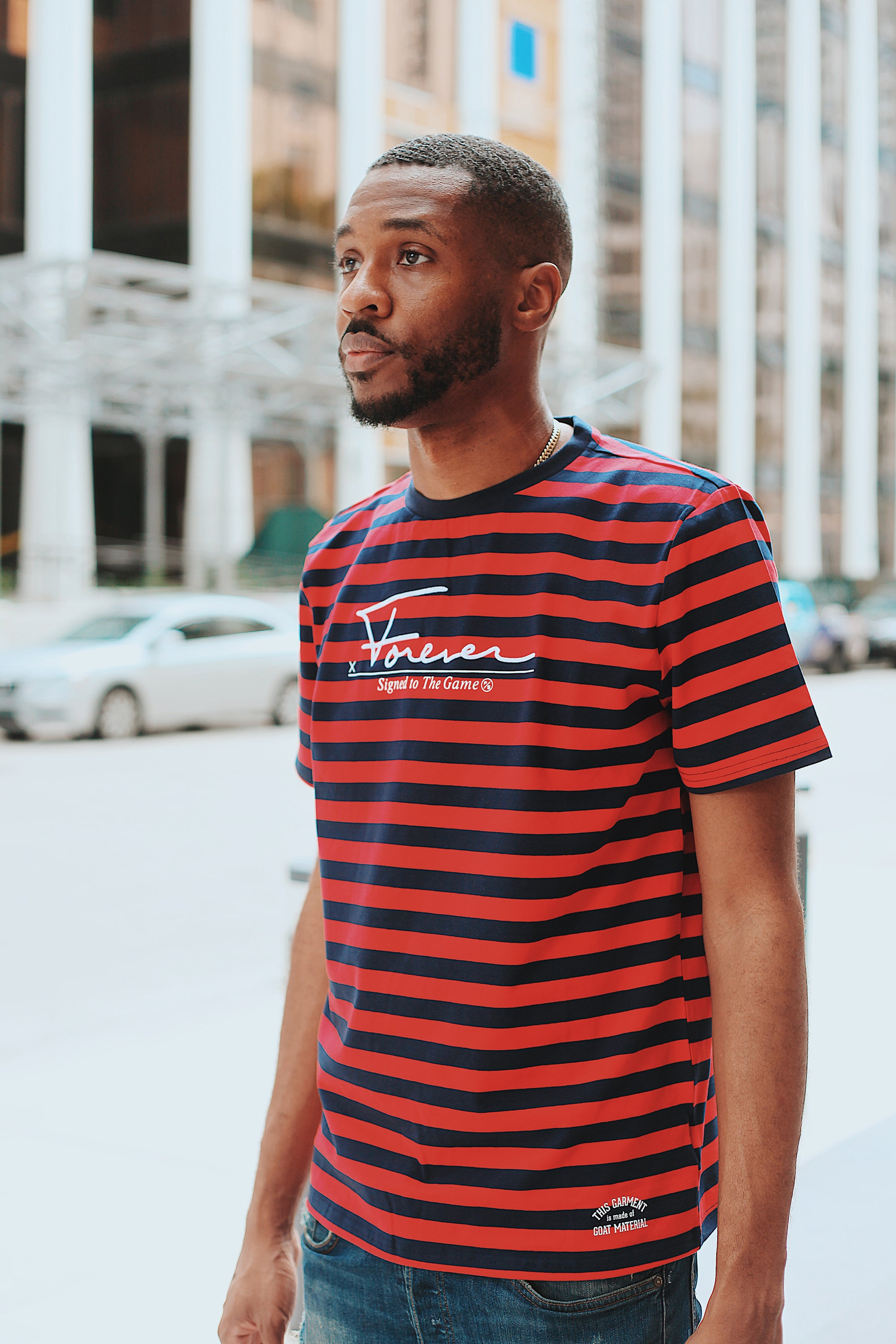 Signed Stripe Shirt (Red)