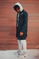 God Got My Back Trenchcoat (Navy)