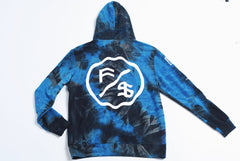 The World Tie-Dye - 2pc Hoodie/Short Set (Blue)
