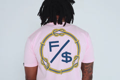 Family Over Money (Pink - Nautical Rope)