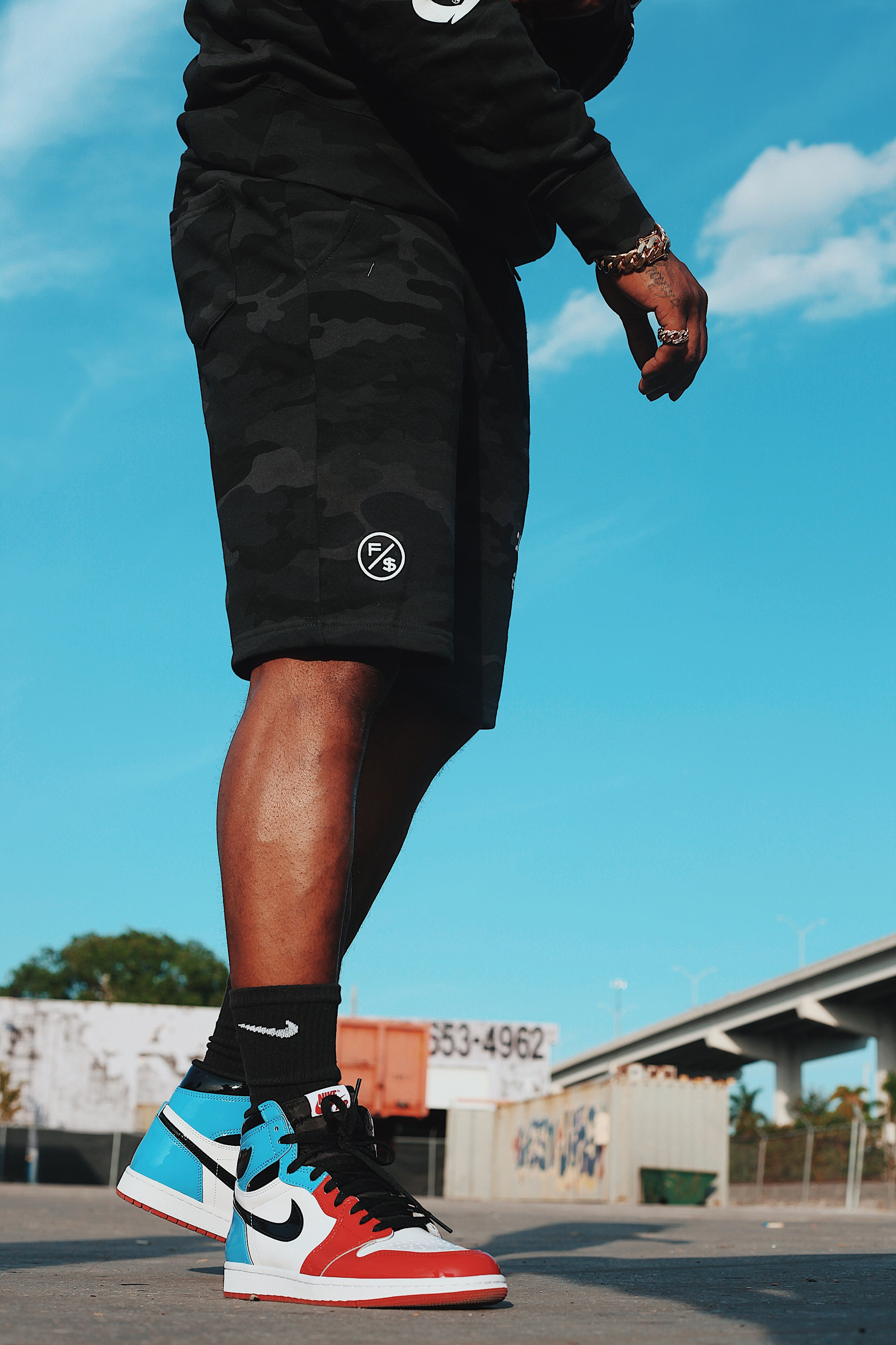 Insomnia Shorts (Black Camo)