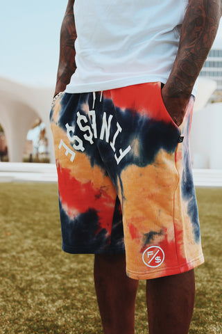 Finesse Tie-Dye Shorts (Red)