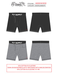 """Blessed"" Boxer Brief Underwear (2PK-Grey)"