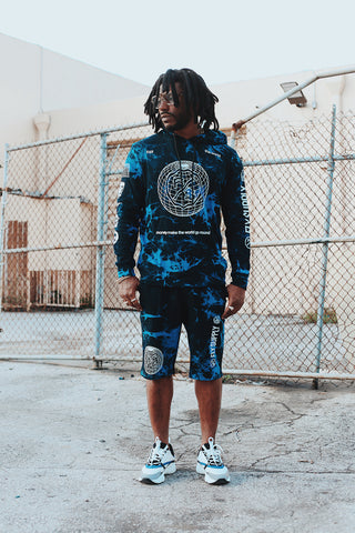 The World Tie-Dye - Hoodie (Blue)