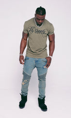 Fly Supply Logo: Military Green