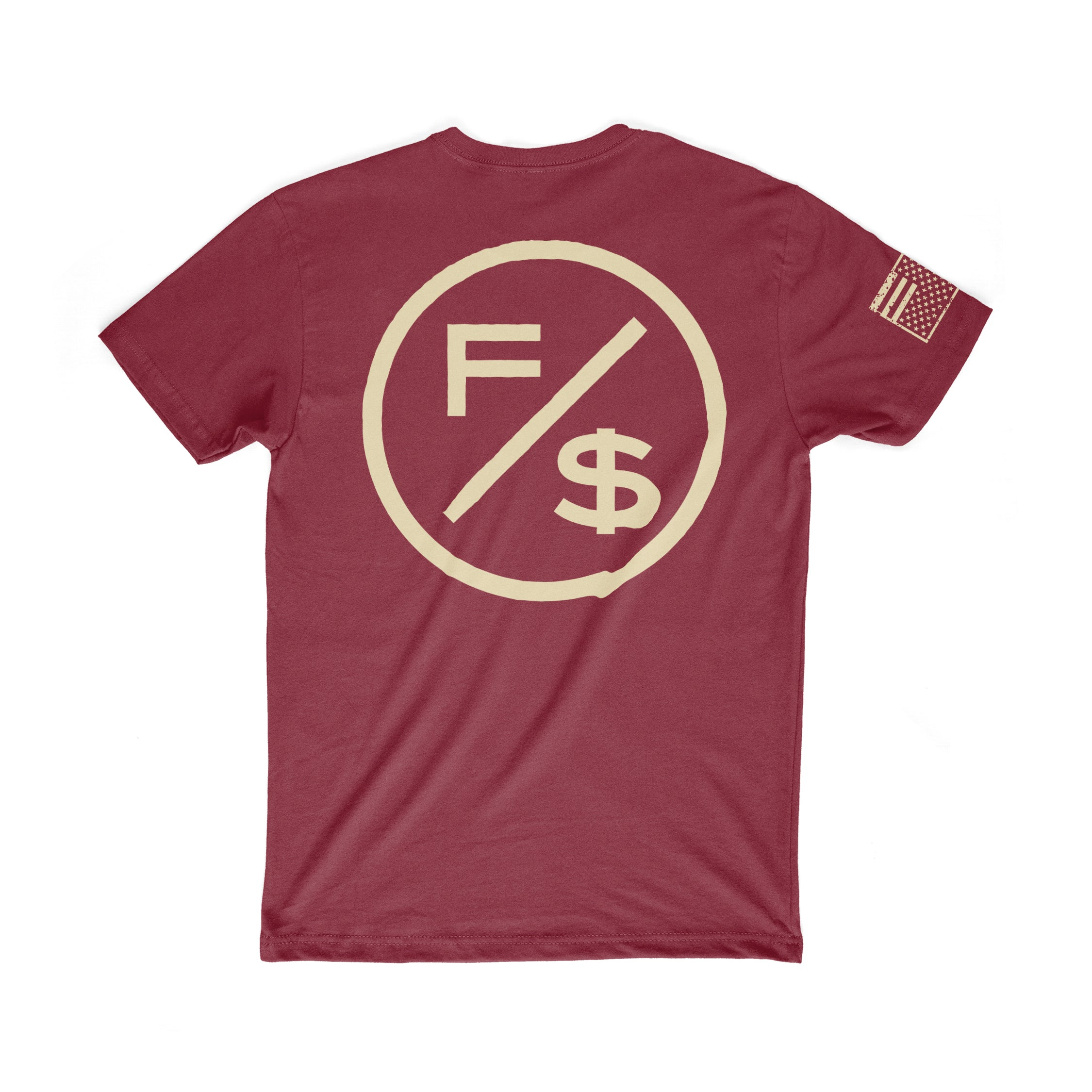 Family Over Money (Maroon/Cream)