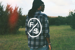 Family Over Money Flannel (Navy)