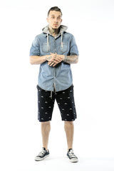 Fishscale Cruiser Shorts (Black)