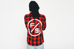 Family Over Money Flannel (Red)