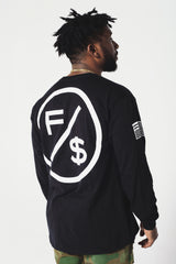 Family Over Money Long Sleeve Tee (BLK)