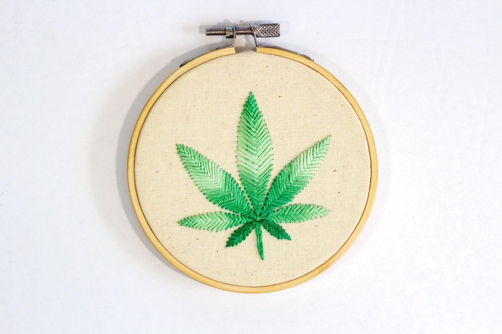 Cannabis Leaf Art front