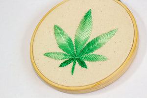 Cannabis Leaf Art left