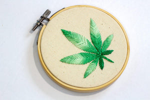 Cannabis Leaf Art right