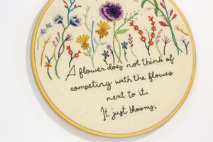 Just Bloom Flower Embroidery | The Femme Bohemain