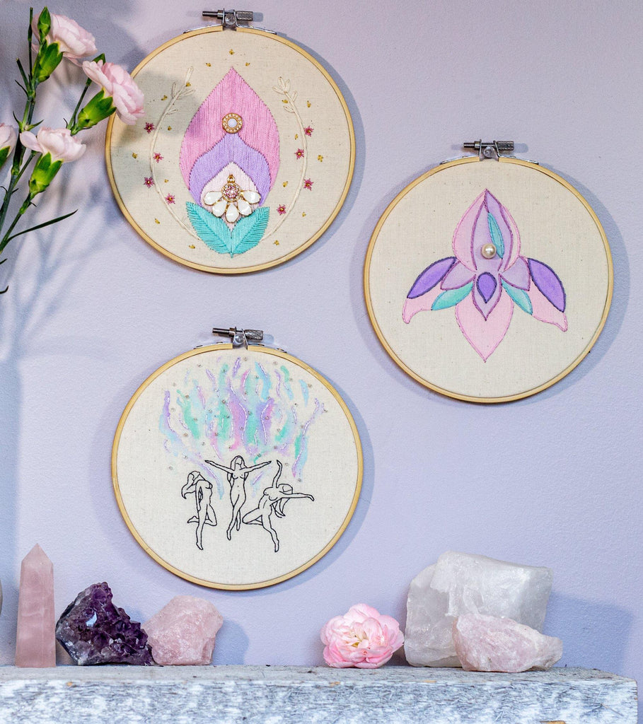Triple Goddess Embroidery Hoop | The Femme Bohemian