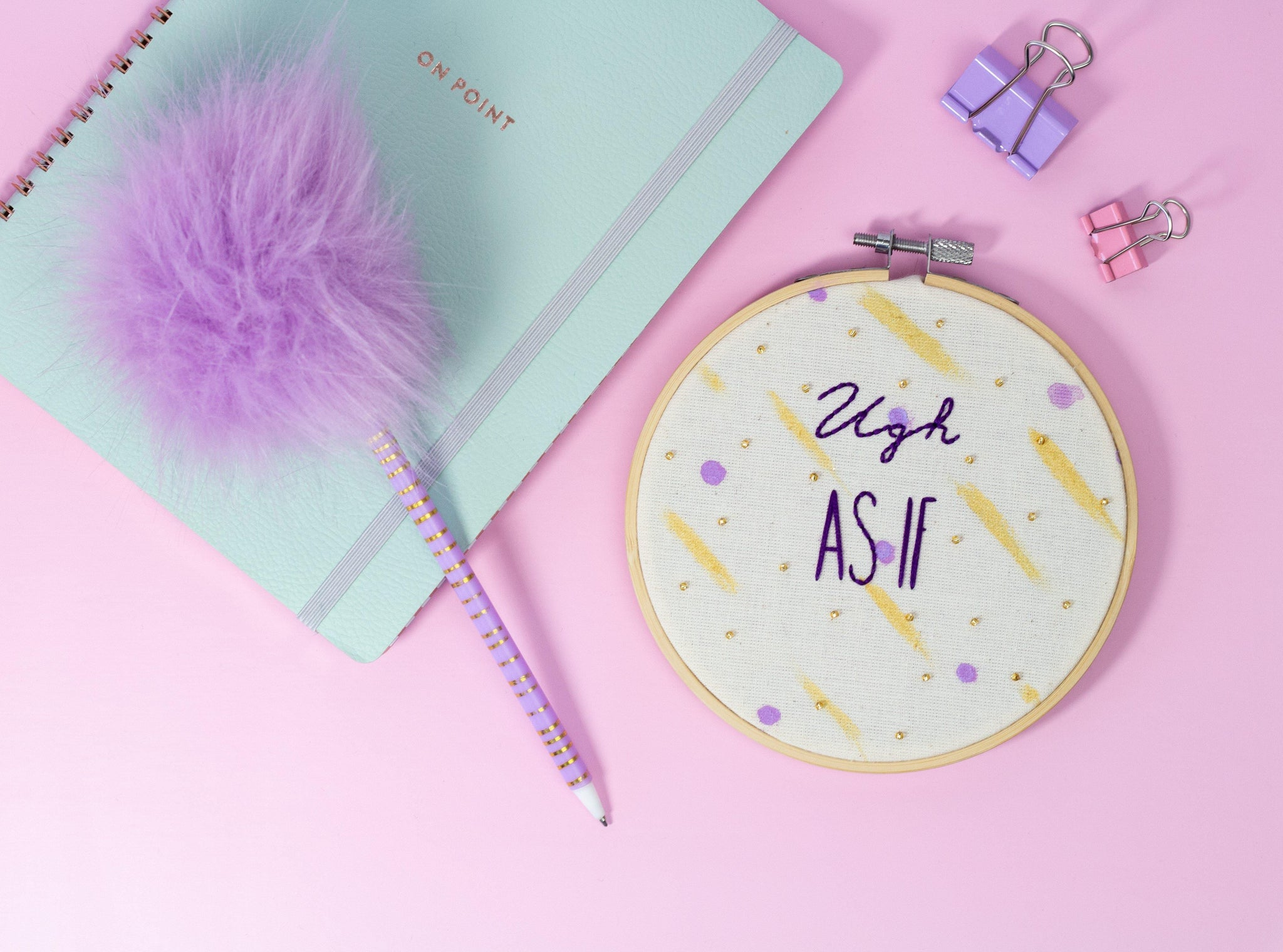 Ugh As If - Cher Clueless Embroidery Hoop | The Femme Bohemian - The Femme Bohemian