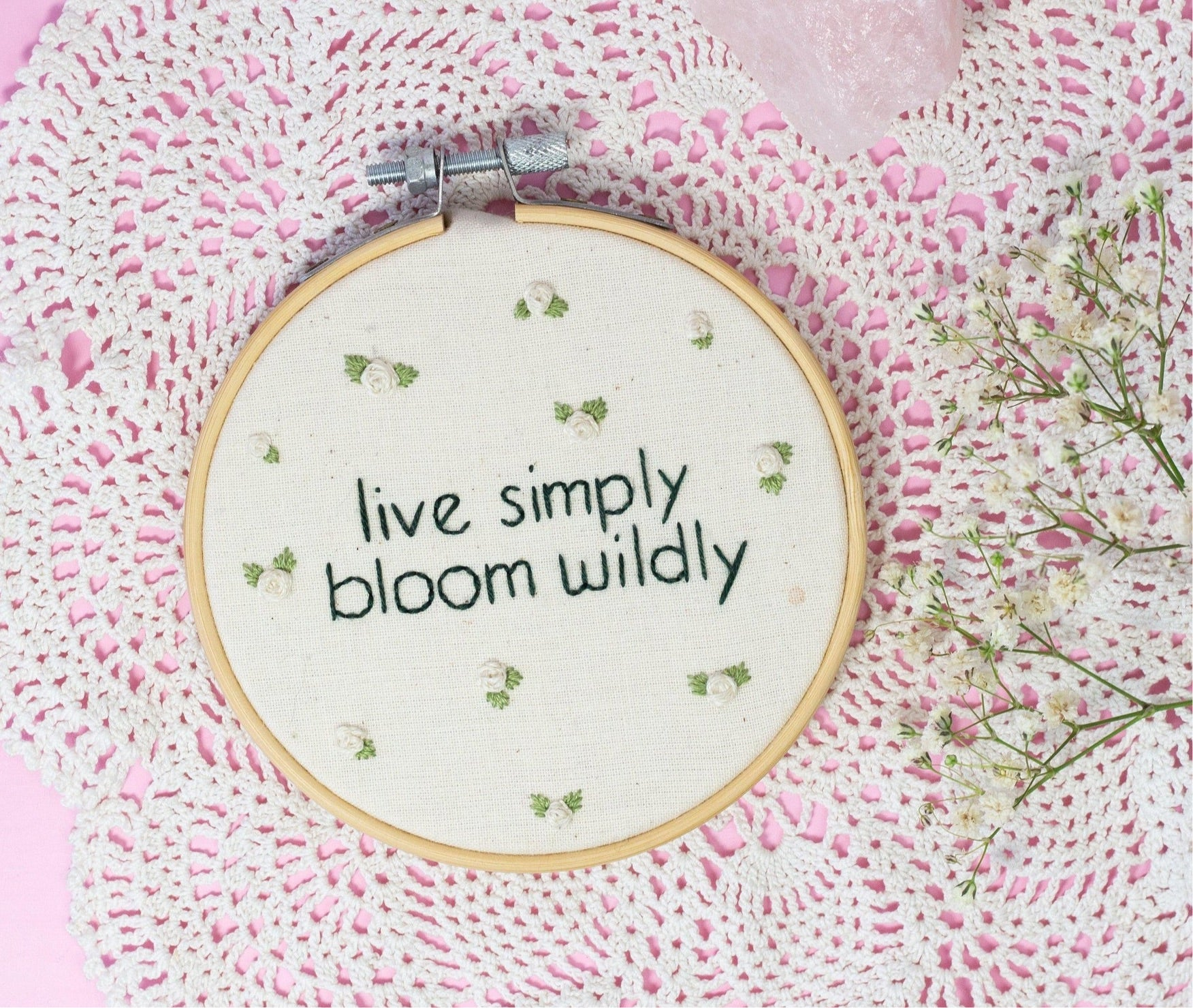 Bloom Wildly, Mini Embroidery | The Femme Bohemian - The Femme Bohemian