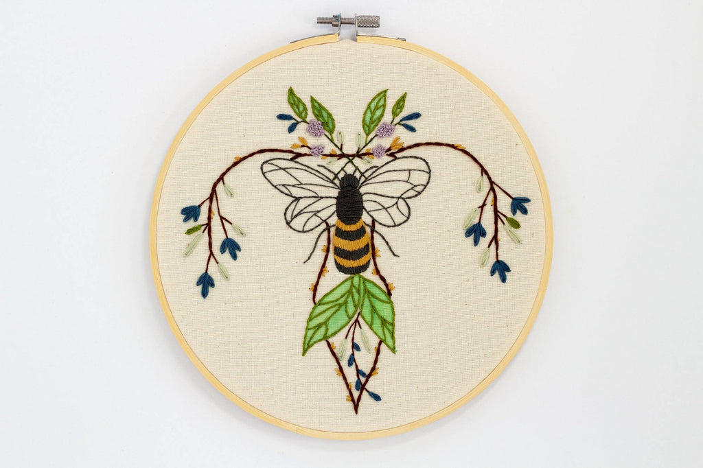 Bee Embroidery, Uterus Art - The Femme Bohemian