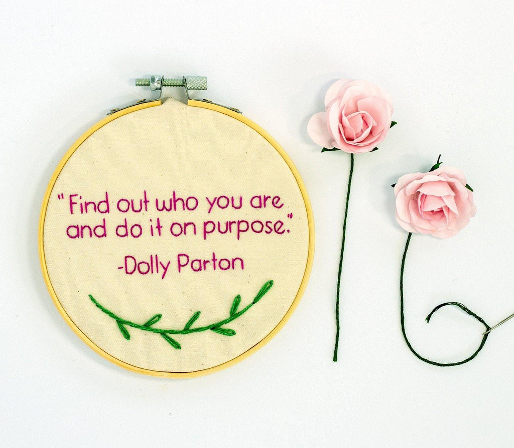 Dolly Parton Quote, Do It On Purpose - The Femme Bohemian
