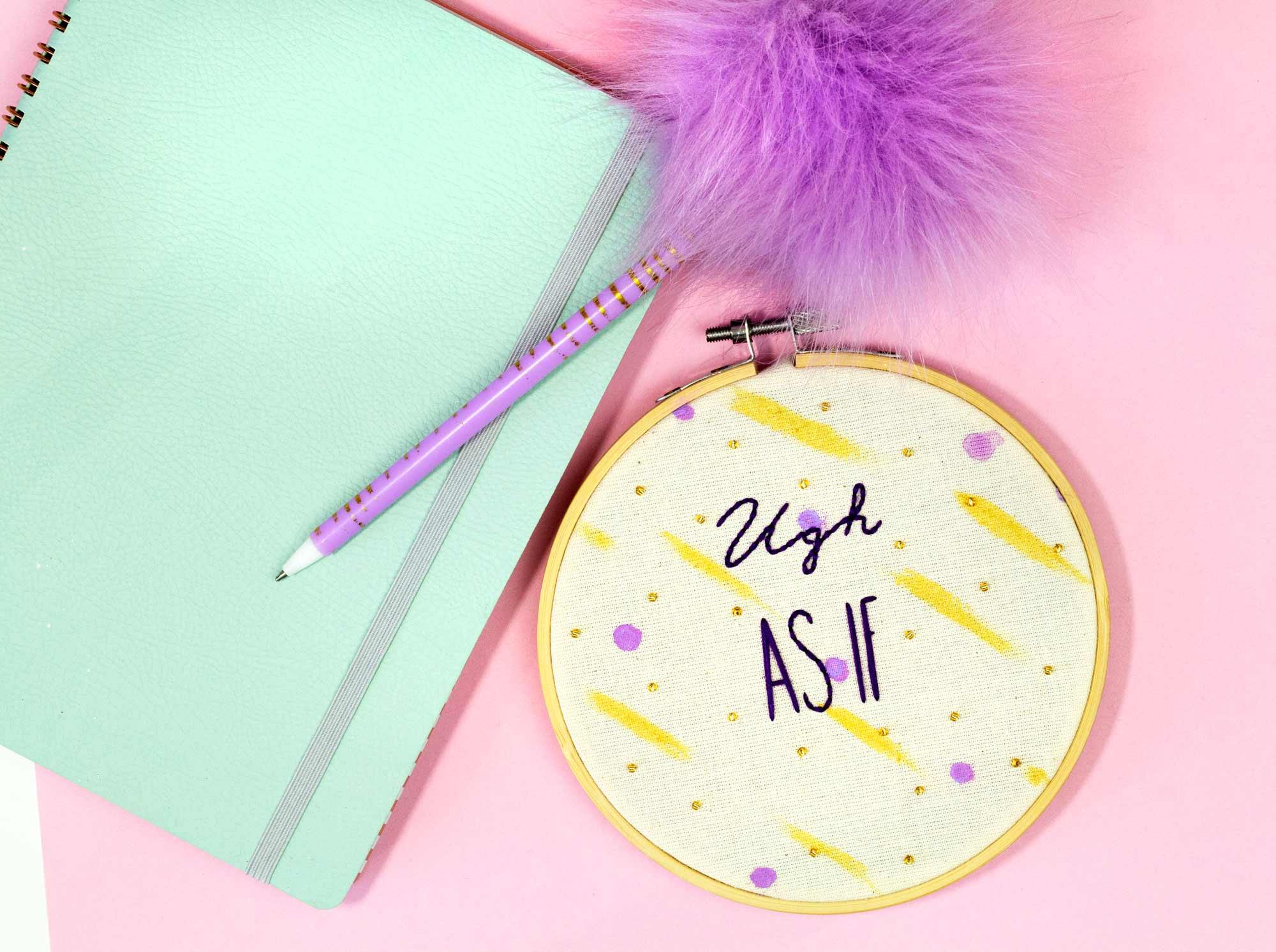 Ugh As If - Cher Clueless Embroidery Hoop | The Femme Bohemian