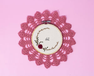 Swear Word, Mini Embroidery Hoop - The Femme Bohemian