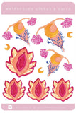 Uterus and Crystal Vulva Stickers , Planner Stickers | The Femme Bohemian