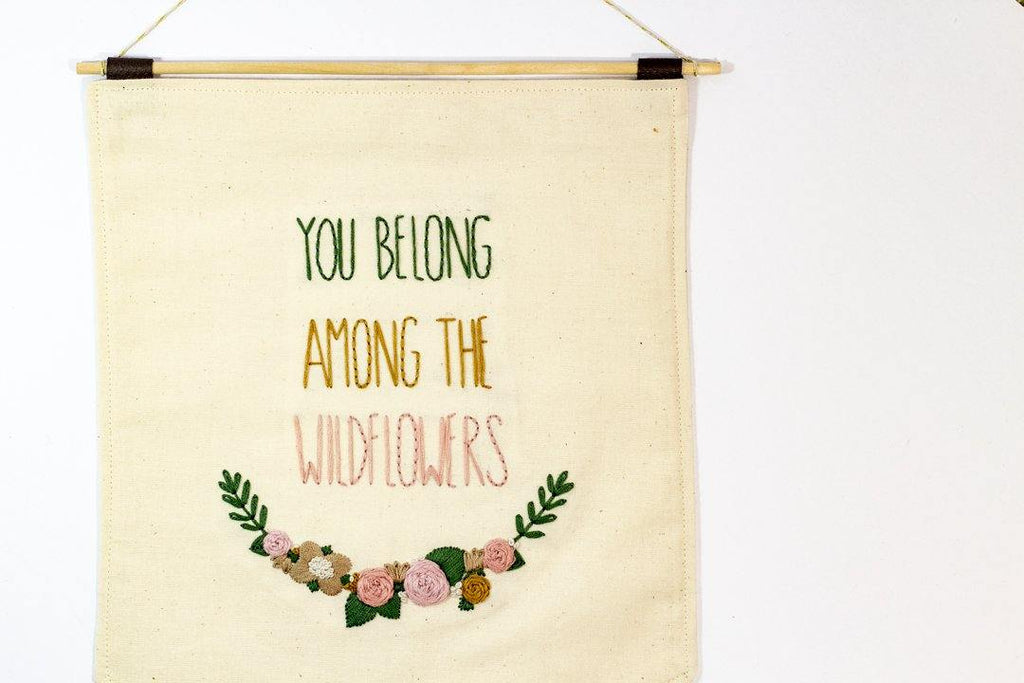 You Belong Among The Wildflowers Banner | The Femme Bohemian