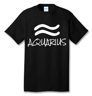 AQUARIUS 100% Cotton Tee Shirt #H001
