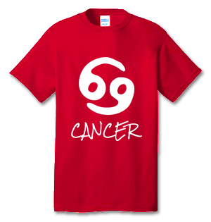 CANCER 100% Cotton Tee Shirt #H003
