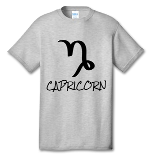 CAPRICORN 100% Cotton Tee Shirt #H004