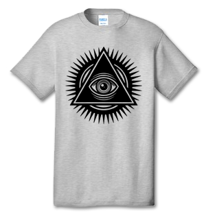ILLUMINATI EYE 100% Cotton Tee Shirt #J001