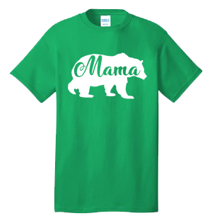 MAMA BEAR 100% Cotton Tee Shirt #J002