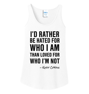 I'd Rather Kurt Cobain Ladies Tank Top #K002